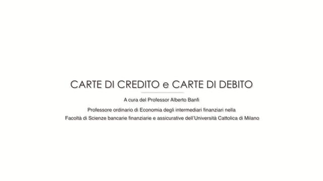 Carta di credito e di debito